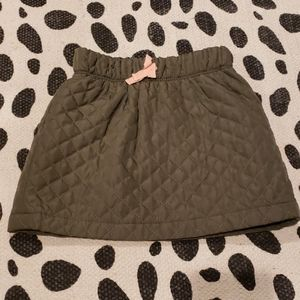 3t,Old Navy skirt, olive green